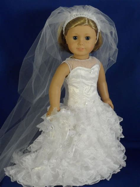 OOAK Wedding Dress, Bride for your American Girl or 18