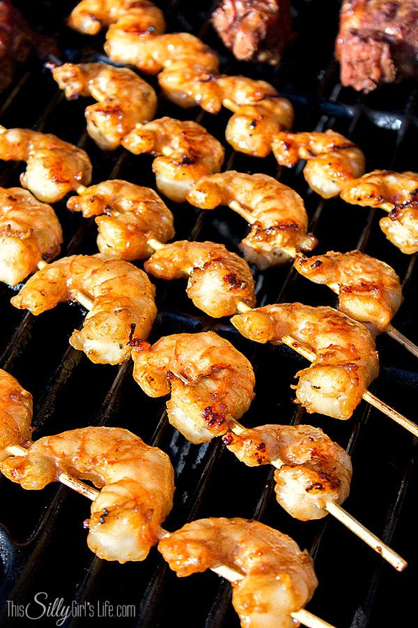 Asian Marinated Grilled Shrimp Skewers