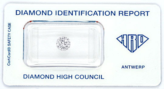 Foto 1, Diamant 1,034ct Brillant HRD Top Wesselton VVS2 Diamond, D5716