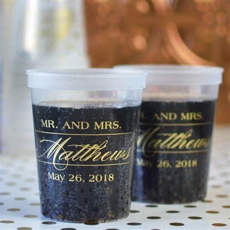 16 Oz. Reusable Plastic Stadium Cups (Set of 25)   Wedding