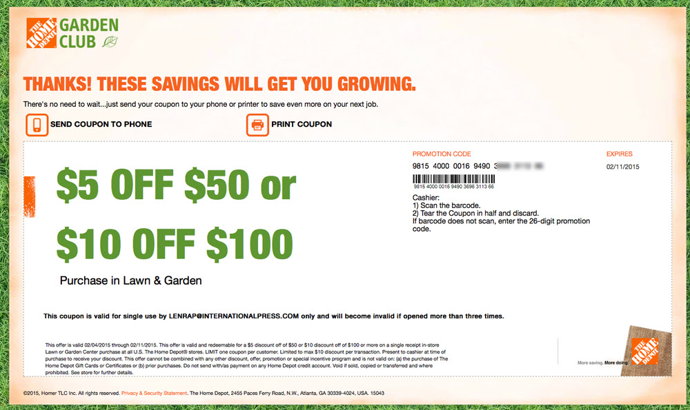Home Depot Promo Code - Home Decor