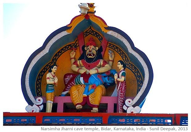 Jharni Narsimha cave temple Bekanapally, Bidar, Karnataka, India - images by Sunil Deepak