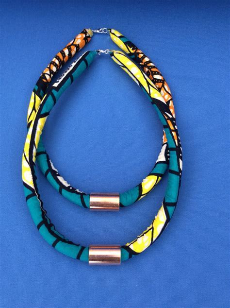 DIY Ankara Rope Necklace   TribeAppeal