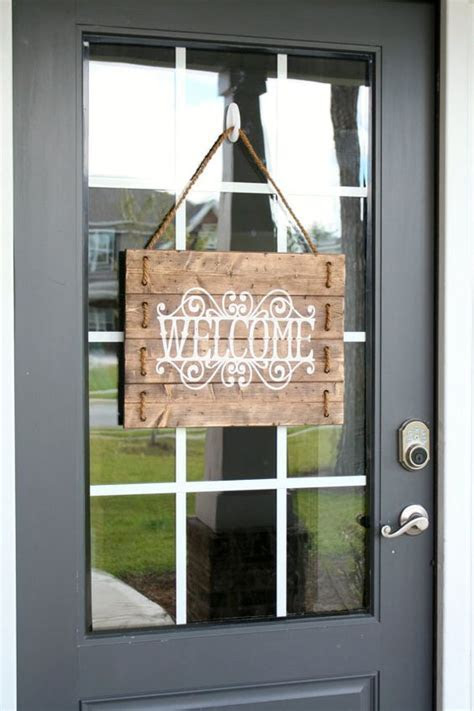 Rustic Wood Rope Welcome Sign Custom Welcome by