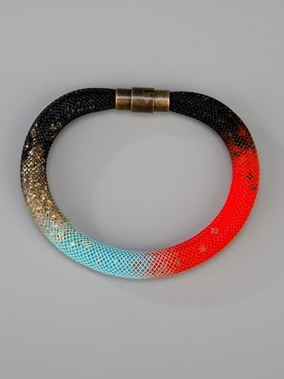 really pretty///Alison Cutlan - astro bracelet: beads in a tube mesh