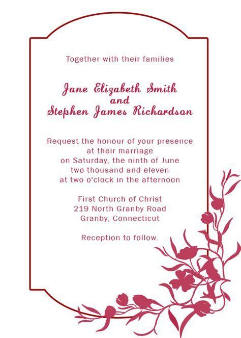 Burgundy Floral Border Wedding Invitation ? Wedding