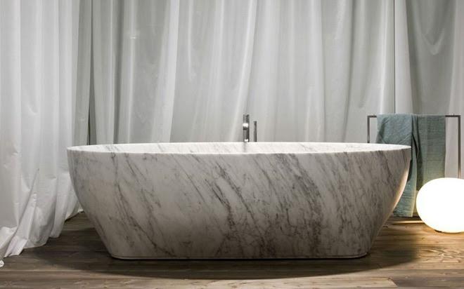 5 cách làm nhà tắm đẹp lên tức khắc nhờ đá cẩm thạch - Ảnh 9.
