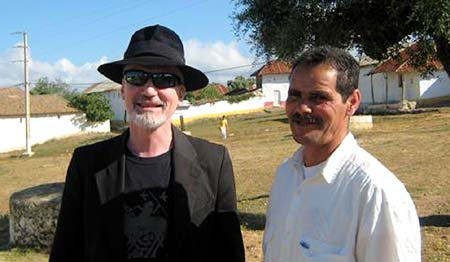 Michael Dean Odin Pollock with Muhamed El Attar in the village of Joujouka 2009.