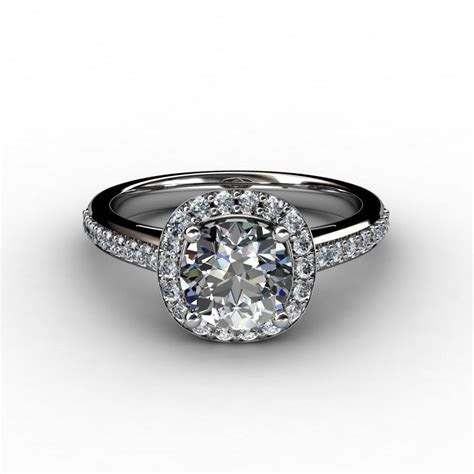 Shown with a 1.50 carat center diamond.