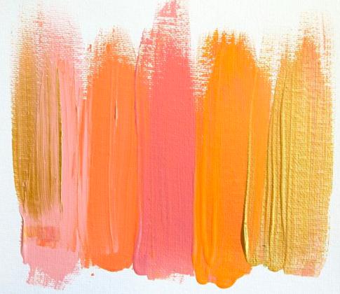 Яркая палитра с золотым и оранжевым
