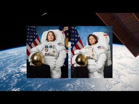 Assista ao vivo a transmissão da Nasa: Primeira caminhada espacial realizada por duas mulheres
