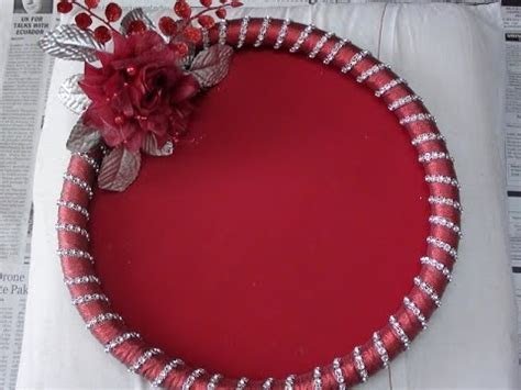 How to make Decorative Round Tray   YouTube