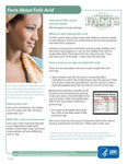 Facts About Folic Acid Fact Sheet cover