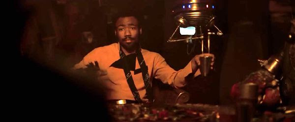 Lando Calrissan (Donald Glover) will play a fateful card game that will cost him the Millennium Falcon in SOLO: A STAR WARS STORY.