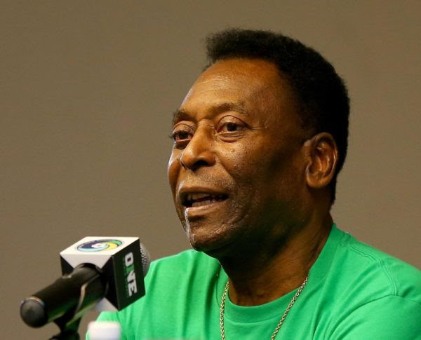 HAVANA, CUBA - JUNE 01:  Pele answers questions during a press conference for the New York Cosmos versus Cuba match on June 1, 2015 in Havana, Cuba.  (Photo by Elsa/New York Cosmos/Getty Images)