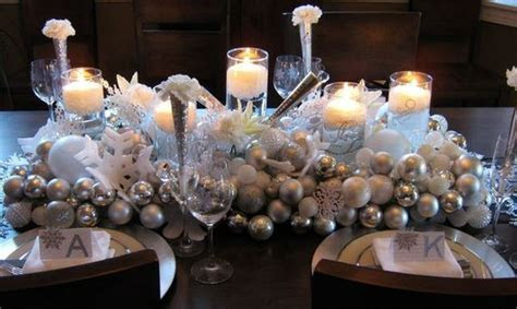New Year & Christmas Table Decorations ? Winter Wedding