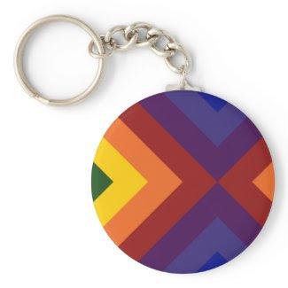Rainbow Chevrons keychain