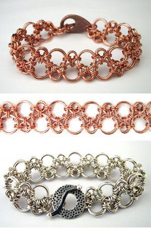 Jumprings + jumprings = bracelet #chainmaille