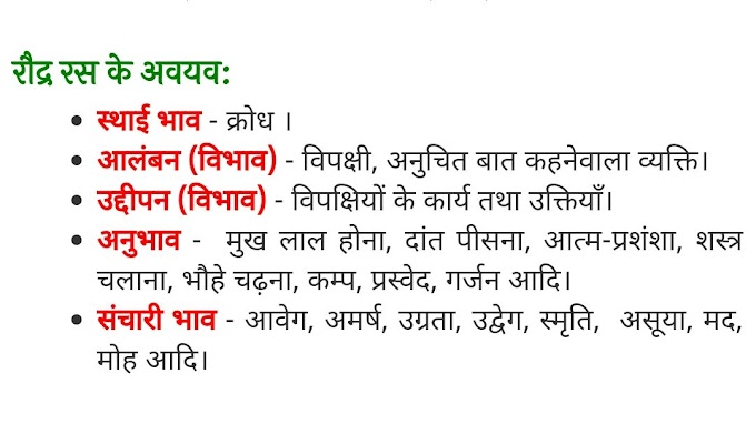 रौद्र रस (Raudra Ras) - परिभाषा, भेद और उदाहरण : हिन्दी व्याकरण