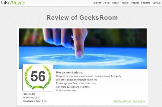 Analiza tus páginas de Facebook y recibe recomendaciones con LikeAlyzer