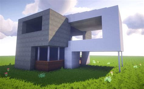 build  simple modern house  minecraft awesome