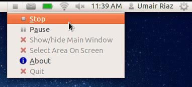 Record screen Ubuntu