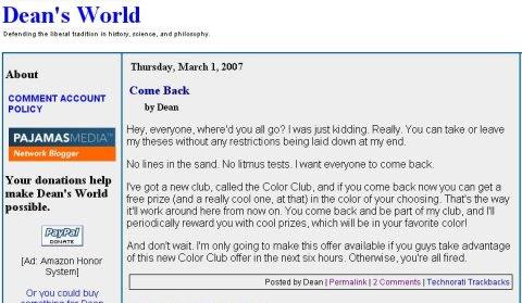 dean's color club
