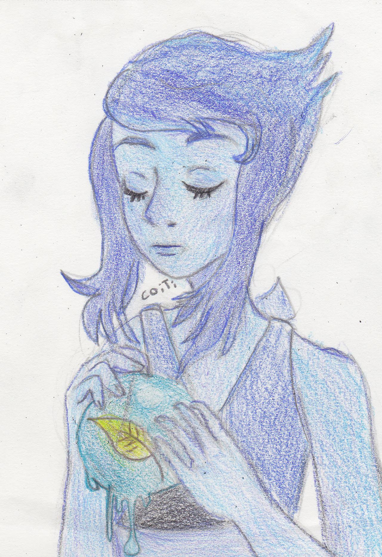 Un dibujo que hice en el liceo hace ya un tiempo y pinte hoy.