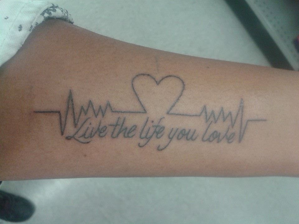 Live The Life You Love Best Tattoo Design Ideas