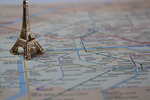 Eiffel Tower on RATP map