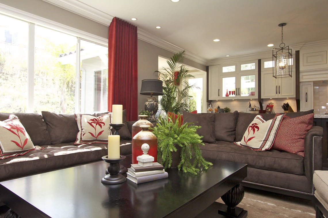 stylish transitional home family room robeson design 2