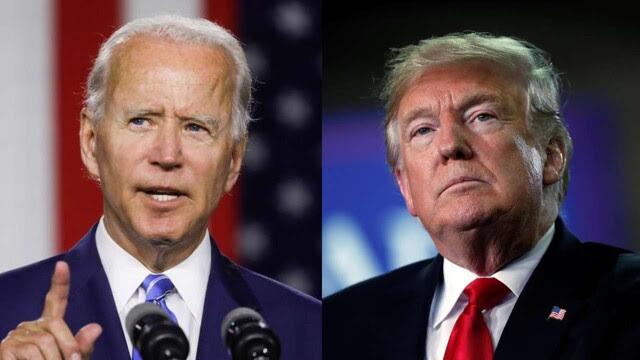 도널드 트럼프 미국 대통령(오른쪽)과 민주당 대선 후보인 조 바이든 전 부통령. 로이터 연합뉴스