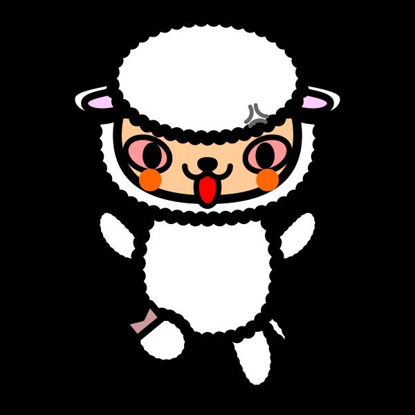 かわいい羊の無料イラスト 商用フリー オイデ43