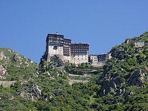 Simonopetra monastery in Agio Oros, Athos, Gre...