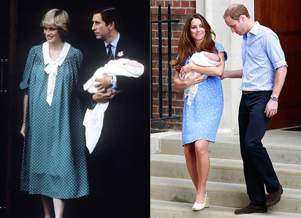 Princesa Diana e príncipe Charles e Kate Middleton e príncipe William (Foto: Agência Getty Images - Agência Reuters)