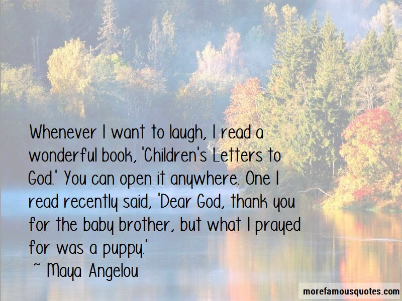Childrens Letters To God Quotes Top 1 Quotes About Childrens