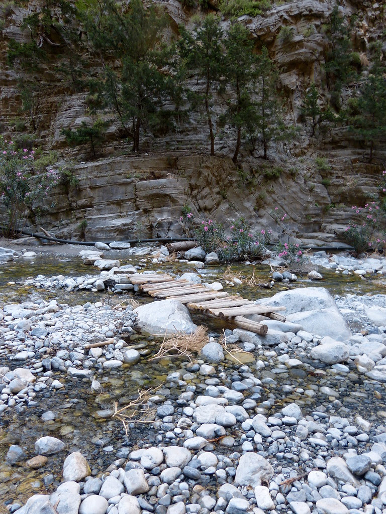 Greek idea of a birdge, Samaria Gorge, Crete