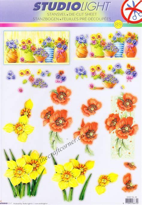 Spring Flowers Die Cut 3d Decoupage Sheet From Studio Light