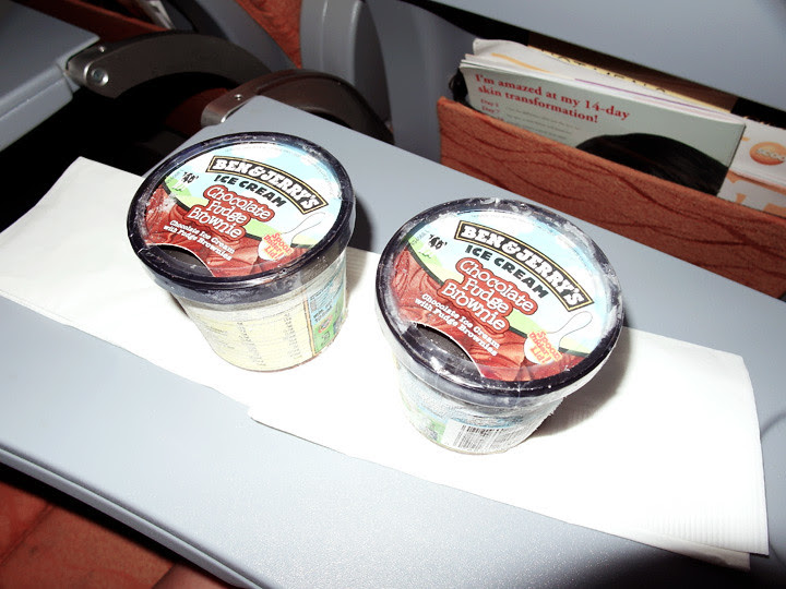 ben&jerry's ice cream on plane