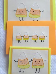 Candy corn cards