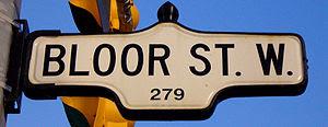 Street Sign for Bloor Street West, near St Geo...