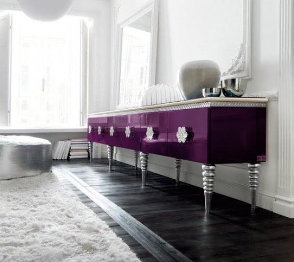 Purple Sideboard