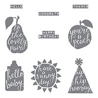 Silhouettes & Script Clear-Mount Stamp Set by Stampin' Up!