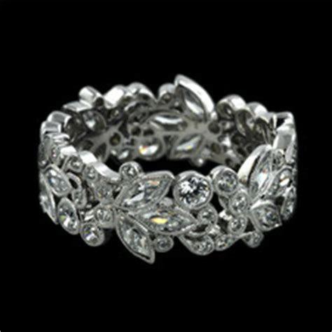 Carl Blackburn 18kt White Gold Diamond Filigree Band