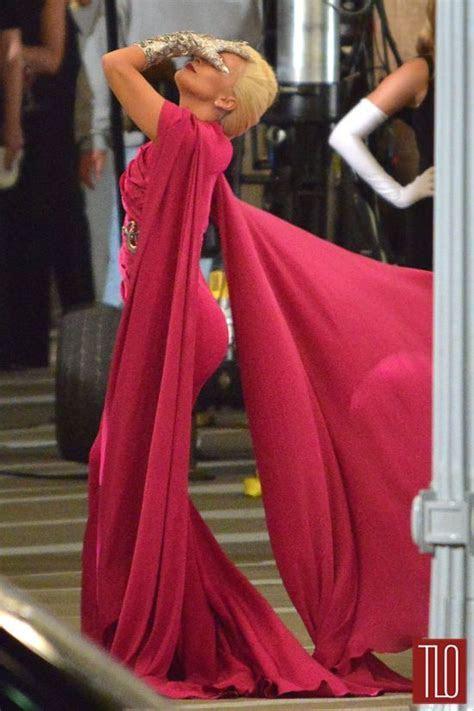"Lady Gaga in Costume Shooting ""American Horror Story"