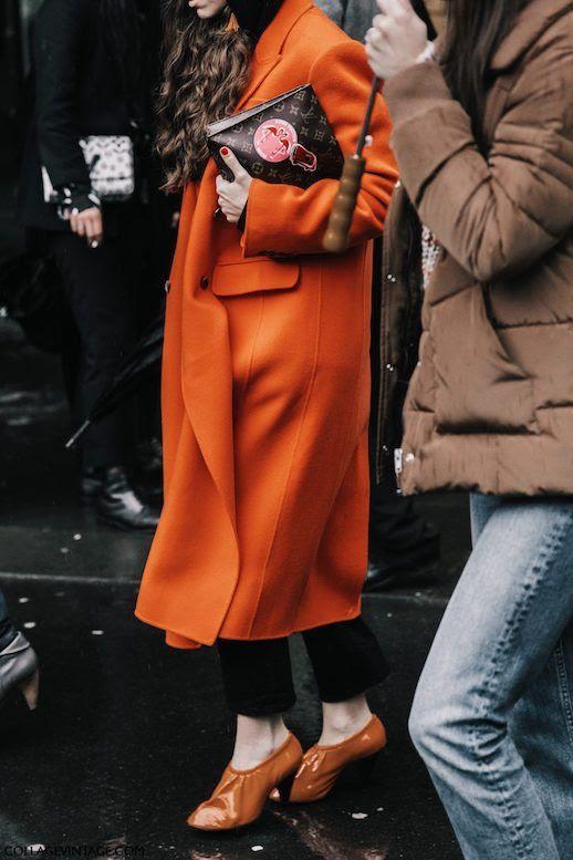 Le Fashion Blog PFW 9 Orange Coats To Shop Now Via Collage Vintage