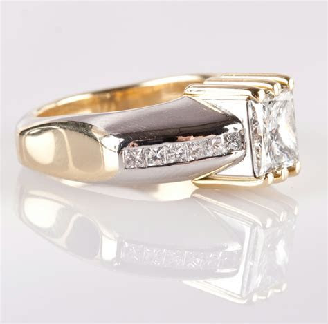 Platinum & 18k Yellow Gold Zultan David Two Tone Diamond