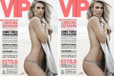 Carolina Dieckmann estampa capa da revista VIP de dezembro Divulgação