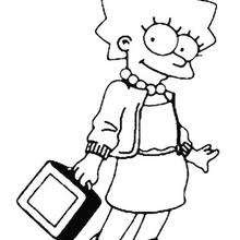 Dessin Marge Simpson A Colorier Coloring Pages The Simpsons
