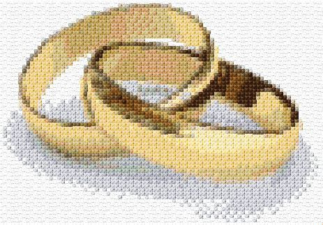 Cross Stitch   Wedding Rings 2 xstitch Chart   Design